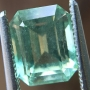 Aquamarine Mint Green Emerald Cut 1.67 carats