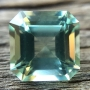 Aquamarine Mint Green Square Emerald Cut 6.2mm