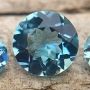 Aquamarine Round Set of 3