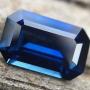 Australian Sapphire Blue Emerald Cut 0.91 carats