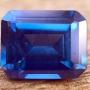 Ceylon Sapphire Blue Emerald Cut 0.58 carats