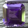 Ceylon Sapphire Purple Square Emerald Cut 4.8mm