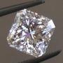 Ceylon Sapphire White Square Radiant 6.55mm