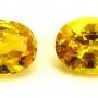 Ceylon Sapphire Yellow Oval Pair 5x4mm