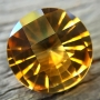Citrine Round Checkerboard 15mm