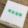 Emerald Emerald Cut Set of 4