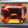 Hessonite Garnet Emerald Cut