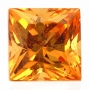 Mandarin Spessartite Garnet Princess Cut 5.5mm