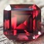 Rhodolite Garnet Emerald Cut