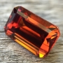 Spessartite Garnet Emerald Cut