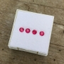 Ruby Round Set of 4, 3mm