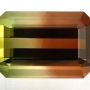 Tourmaline Bicolour Emerald Cut