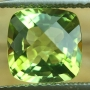 Tourmaline Bi Colour Green Yellow Square Cushion Checkerboard