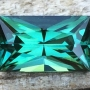 Tourmaline Blue Green Radiant
