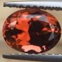 Tourmaline Orange Rose Oval