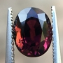 Tourmaline Pink Orange Oval