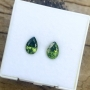 Zircon Green Pear Pair
