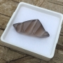 Smokey Quartz Triangle Carved Ripple