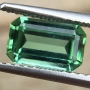 Tourmaline Green Emerald Cut 1.21 carats