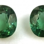 Tourmaline Blue Green Cushion Pair 2.69 carats total