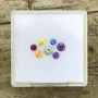 Rainbow Assorted Rounds Set of 7, 2.3-3.2mm
