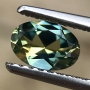 Australian Sapphire Parti Blue Yellow Oval 0.58 carat